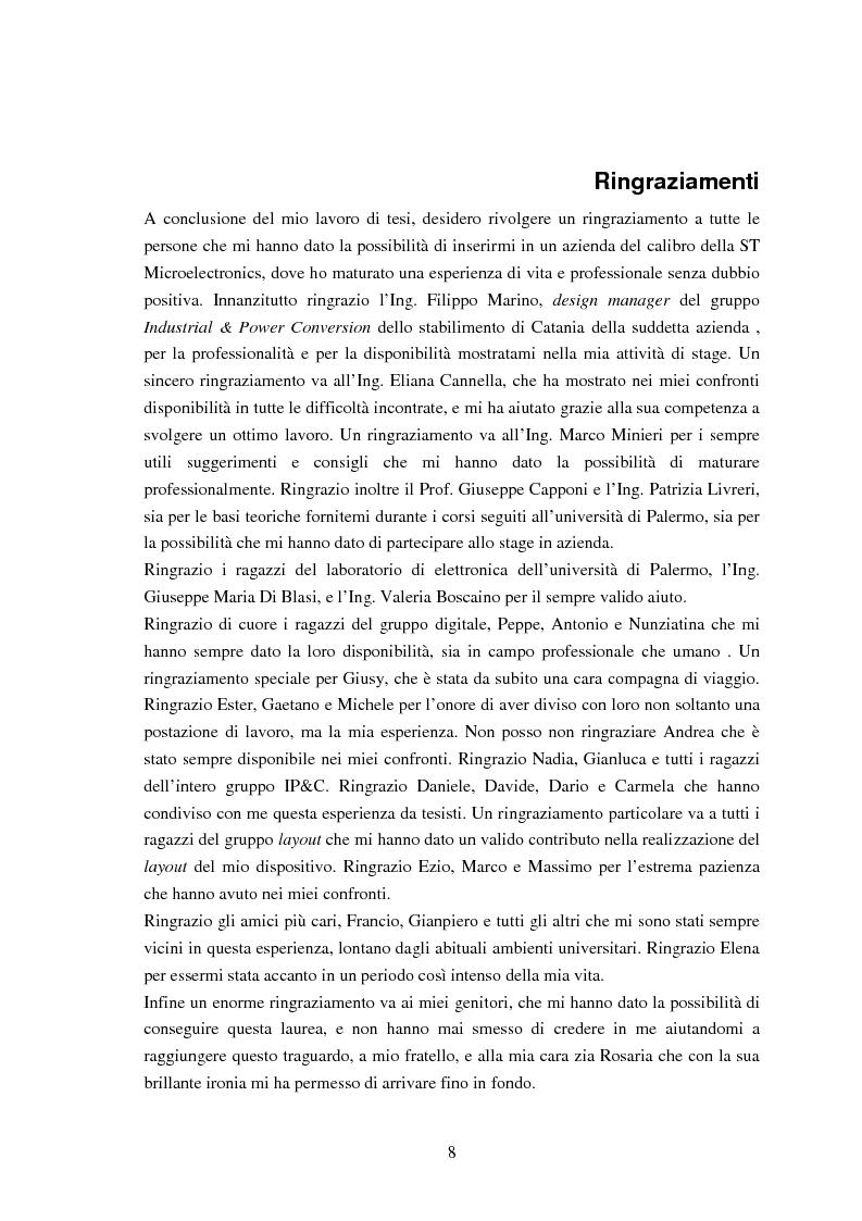 Anteprima della tesi: Progetto e realizzazione di un convertitore analogico digitale per alimentatori switching controllati digitalmente, Pagina 3