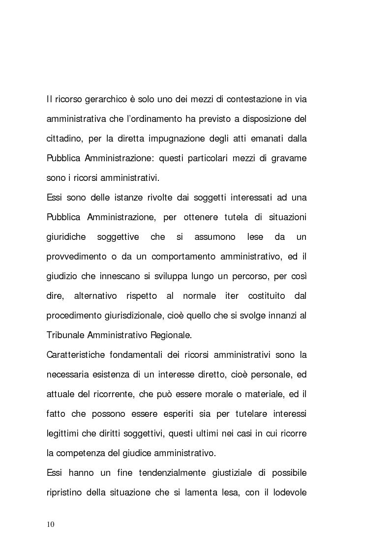 Anteprima della tesi: Il ricorso gerarchico, Pagina 1