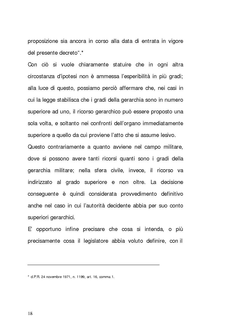 Anteprima della tesi: Il ricorso gerarchico, Pagina 9