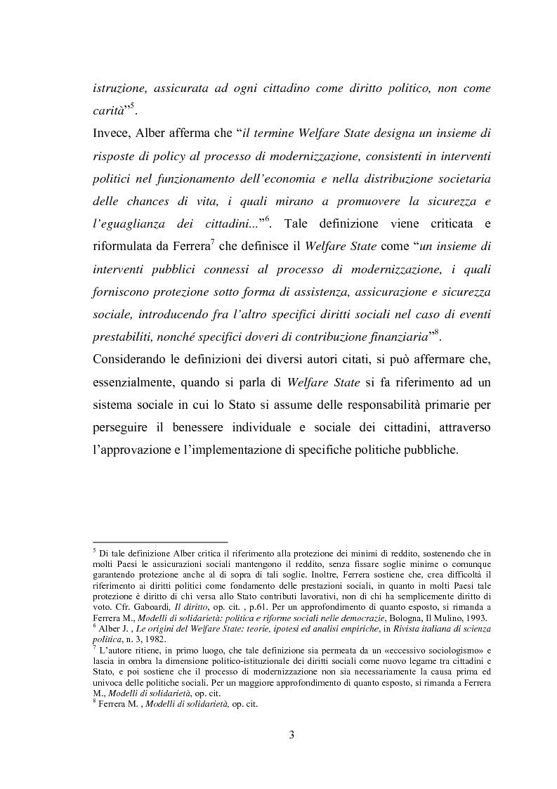 Anteprima della tesi: La riforma del sistema sociale italiano: l'attuazione della legge 328/2000 nell'ambito delle scelte territoriali. Regioni a confronto., Pagina 6