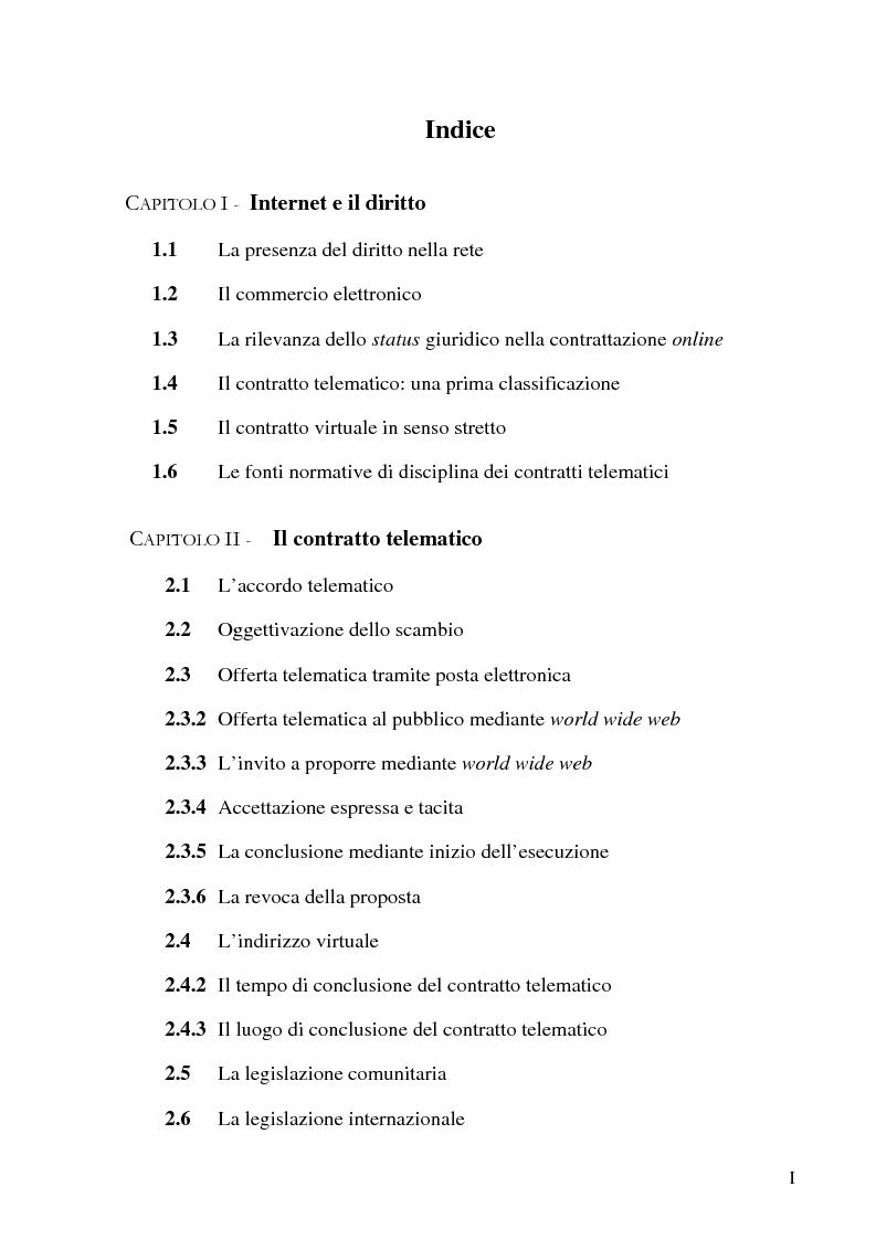 Il contratto telematico indice pagina 1 di 3 for Contratto 3 2