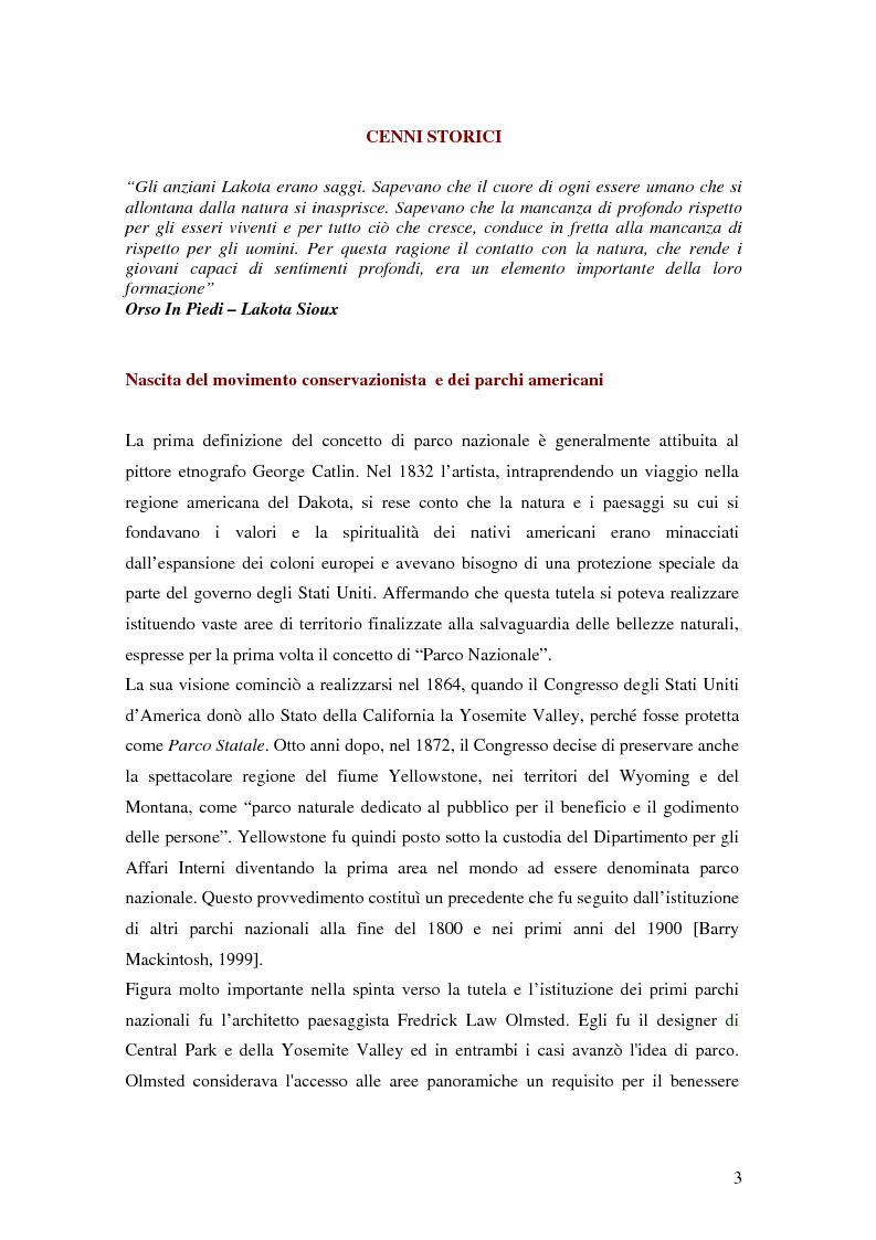 Anteprima della tesi: Il National Park Service: la gestione delle aree protette negli Stati Uniti d'America, Pagina 1