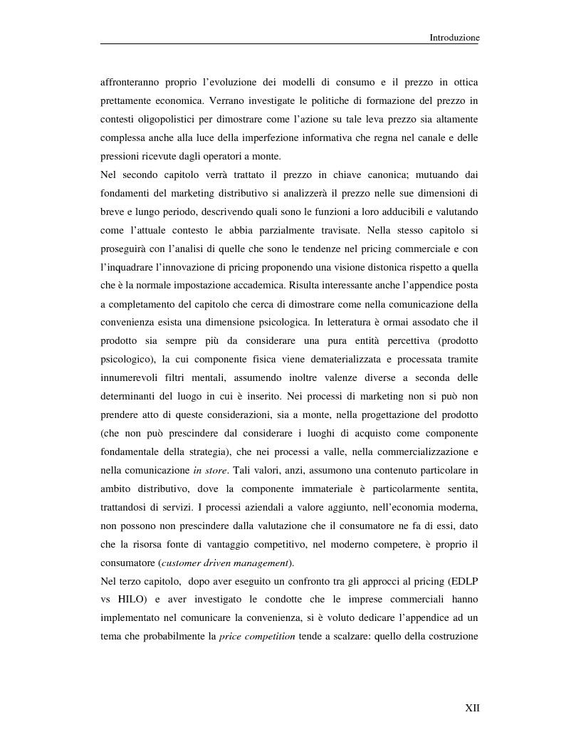 Anteprima della tesi: Evoluzione delle politiche di pricing commerciale: prospettive di sviluppo dell'EDLP nella distribuzione moderna, Pagina 2