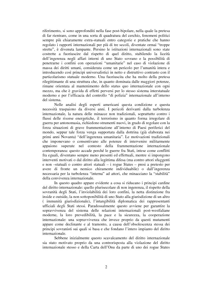 Anteprima della tesi: La questione della legittimità dell'intervento in Iraq, Pagina 2