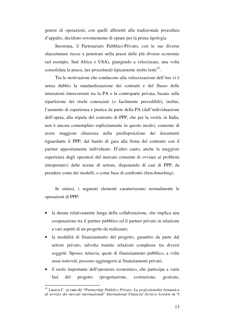 Anteprima della tesi: Il partenariato pubblico privato e l'introduzione del dialogo competitivo in Italia, Pagina 11