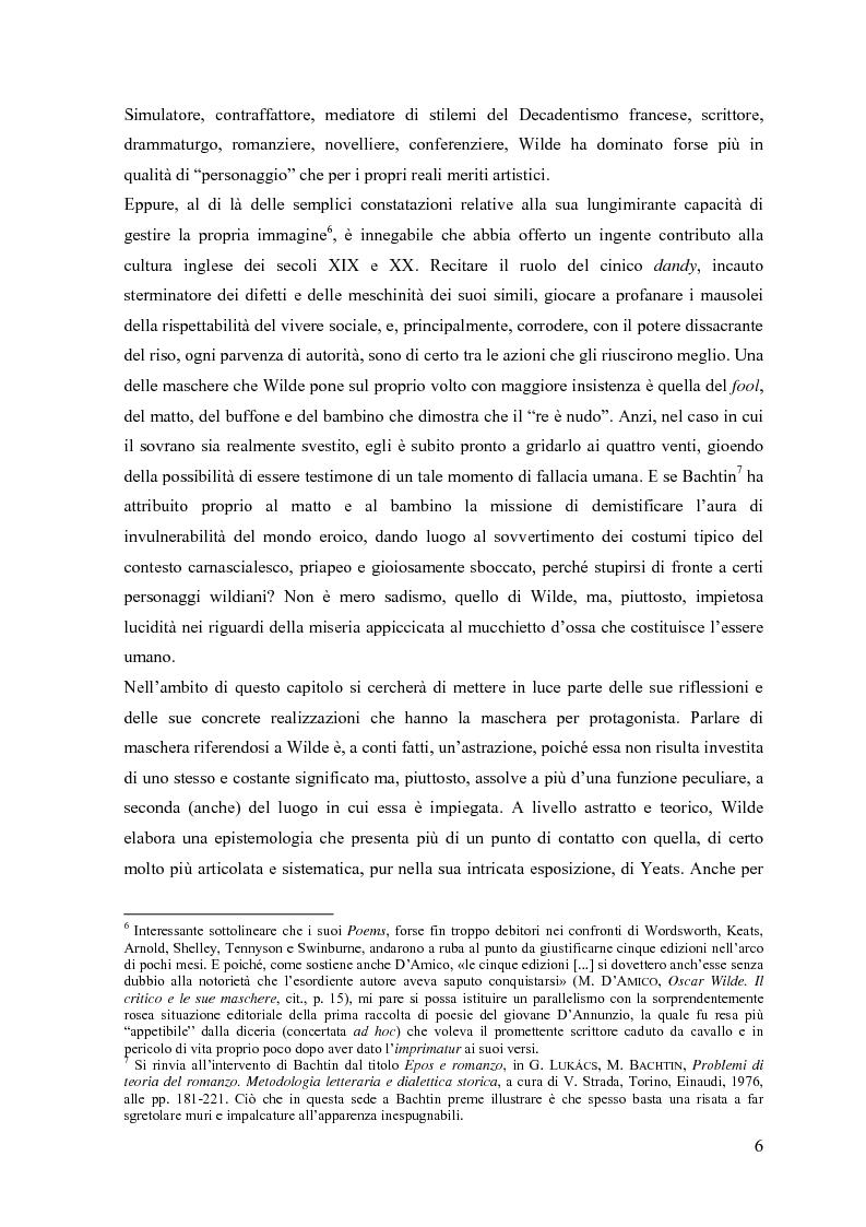 """Anteprima della tesi: """"Break bitter furies of complexity"""": self e anti-self nel teatro di W. B. Yeats, Pagina 6"""