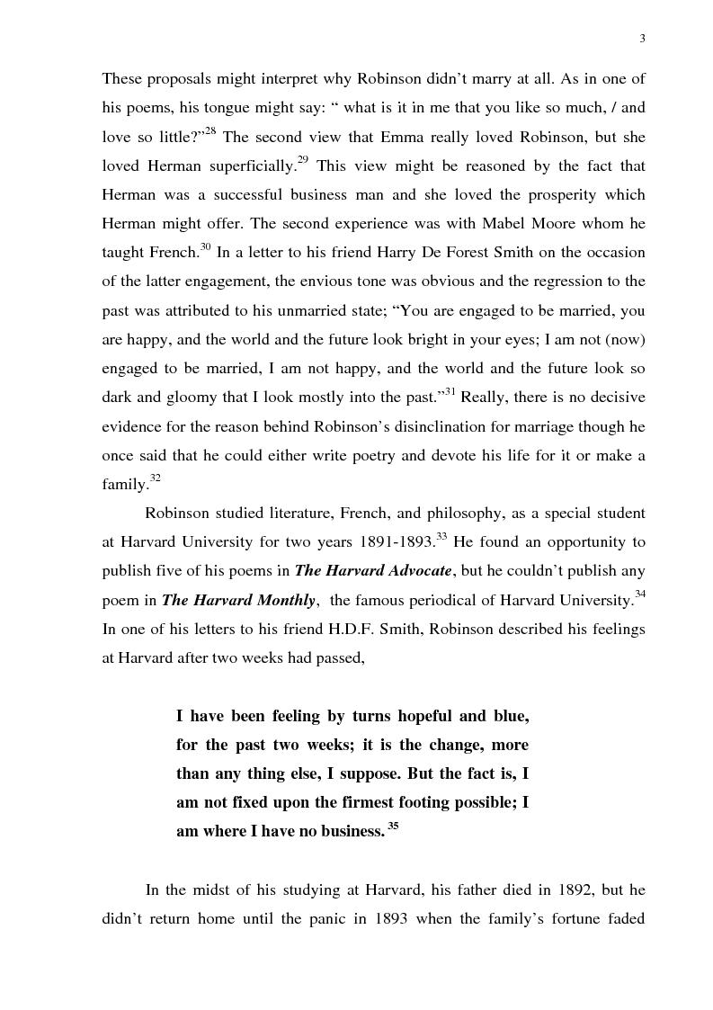 Anteprima della tesi: The Omniscient Narration in Edwin Arlington Robinson's Poetry, Pagina 3