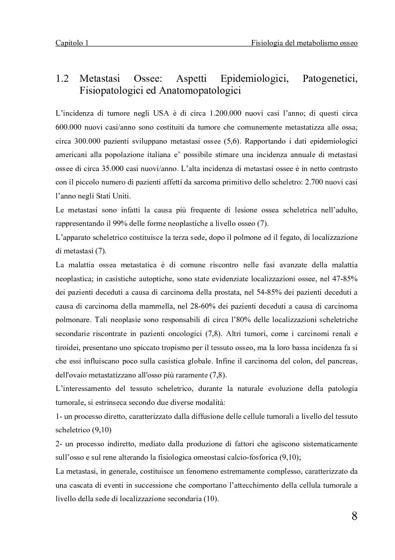 Anteprima della tesi: Terapia radiometabolica delle metastasi ossee in medicina nucleare con Samario-153: aspetti operativi, Pagina 3