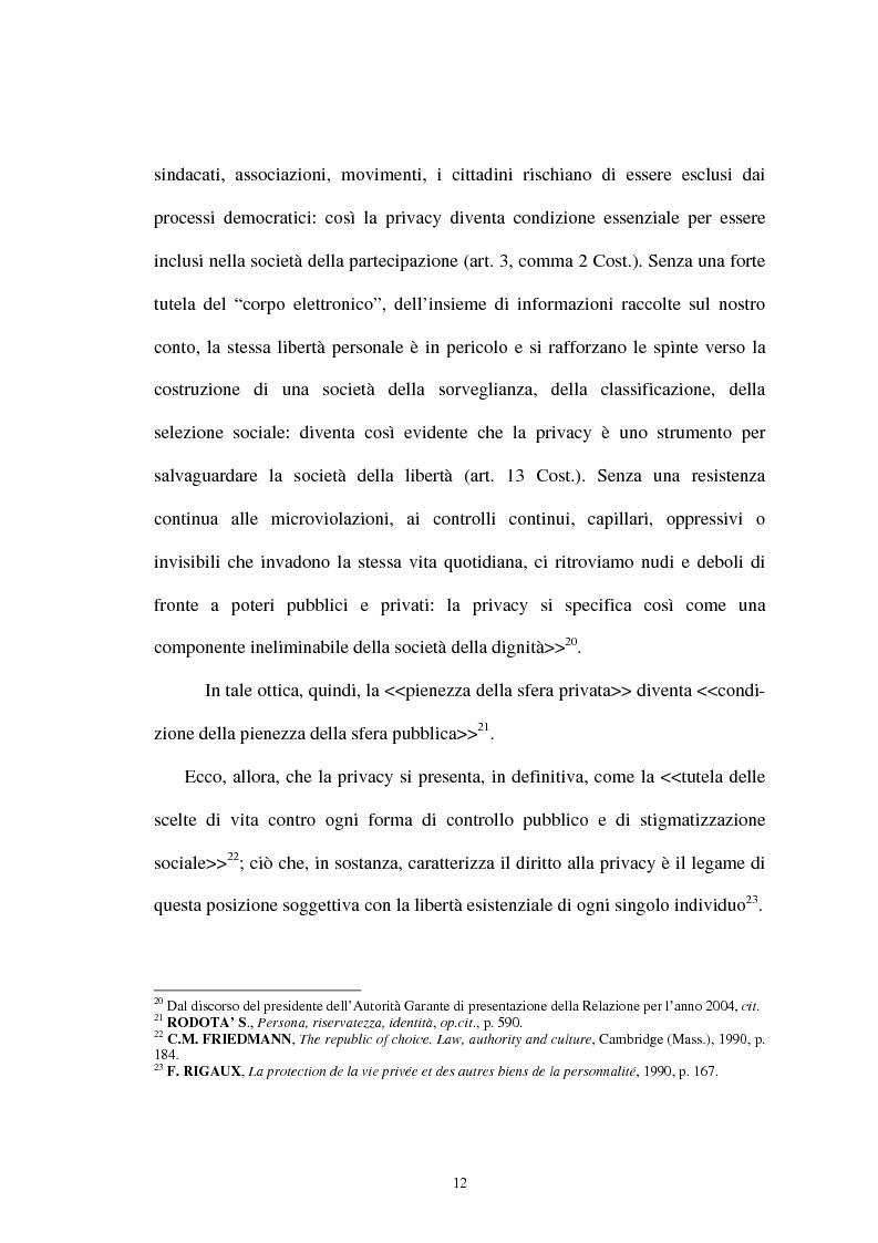 Anteprima della tesi: Il diritto alla privacy nella Costituzione italiana, Pagina 9