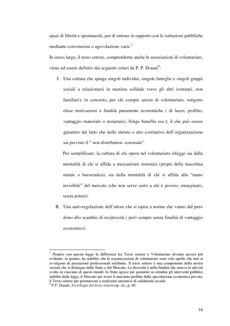 Anteprima della tesi: Il senso del volontariato, Pagina 14
