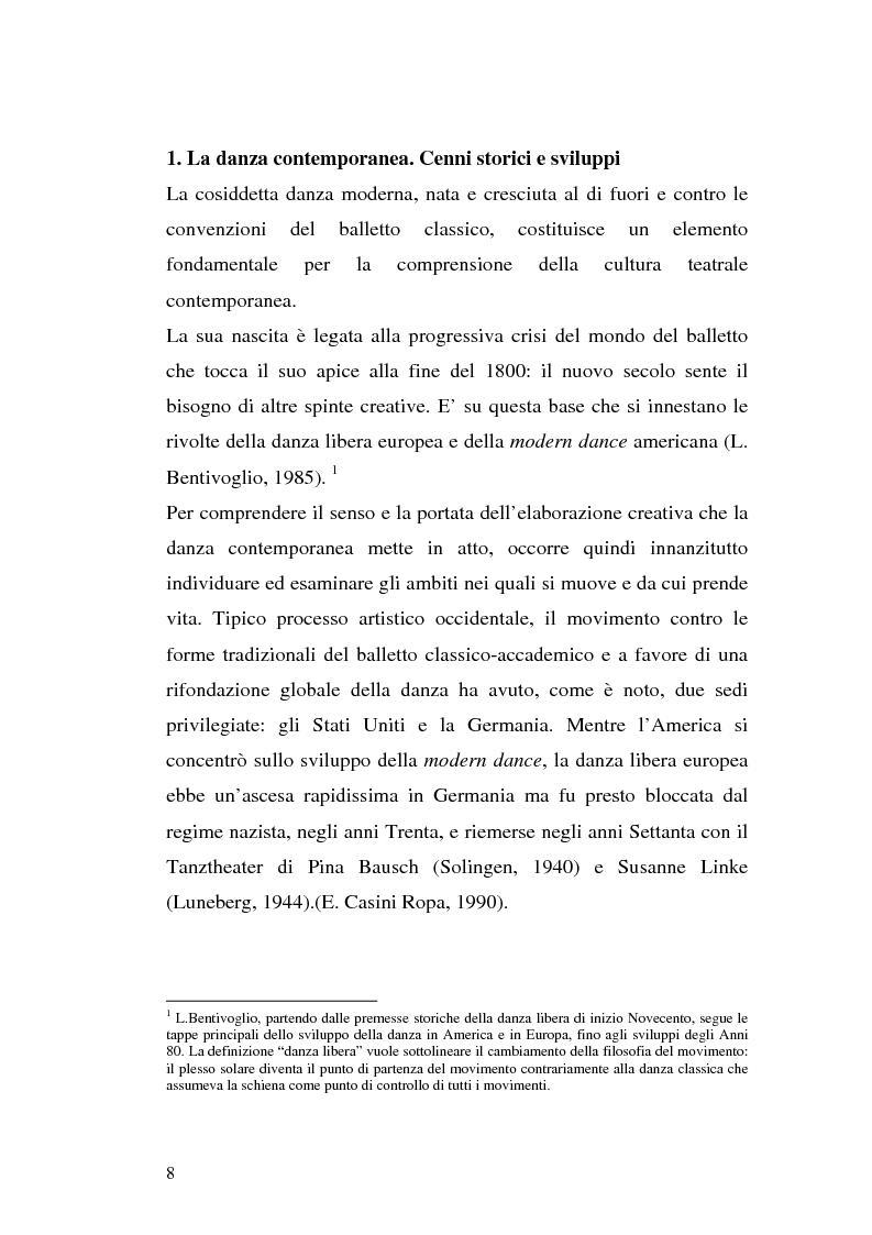 Anteprima della tesi: Al limite della danza. Studio antropologico di due laboratori di danza contemporanea., Pagina 5