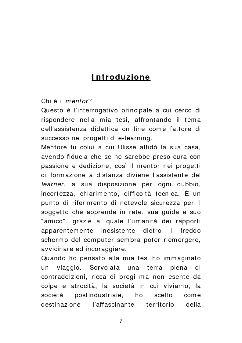 Anteprima della tesi: Il Mentor: da ''antimaestro'' ad angelo custode elettronico. Il caso SFERA., Pagina 1
