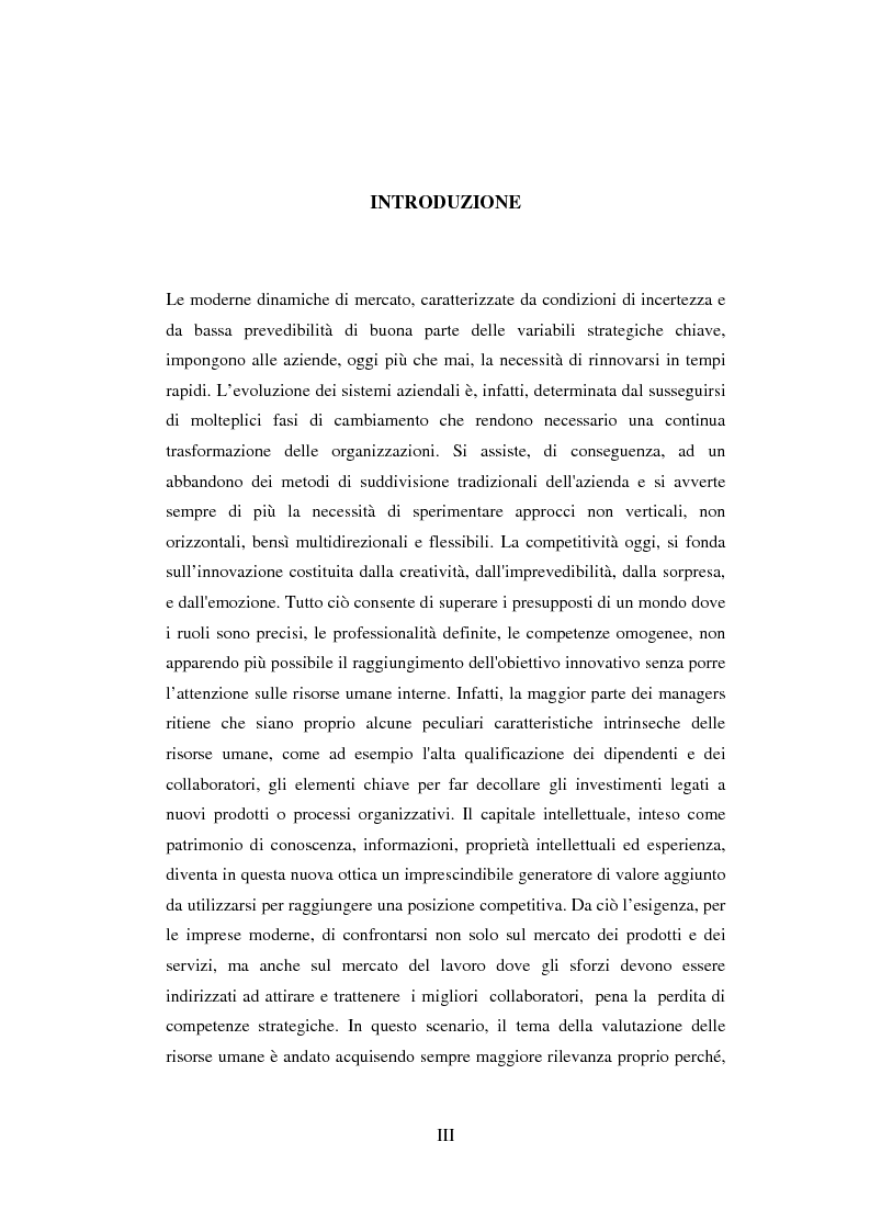 Anteprima della tesi: La valutazione del potenziale delle risorse umane, Pagina 1