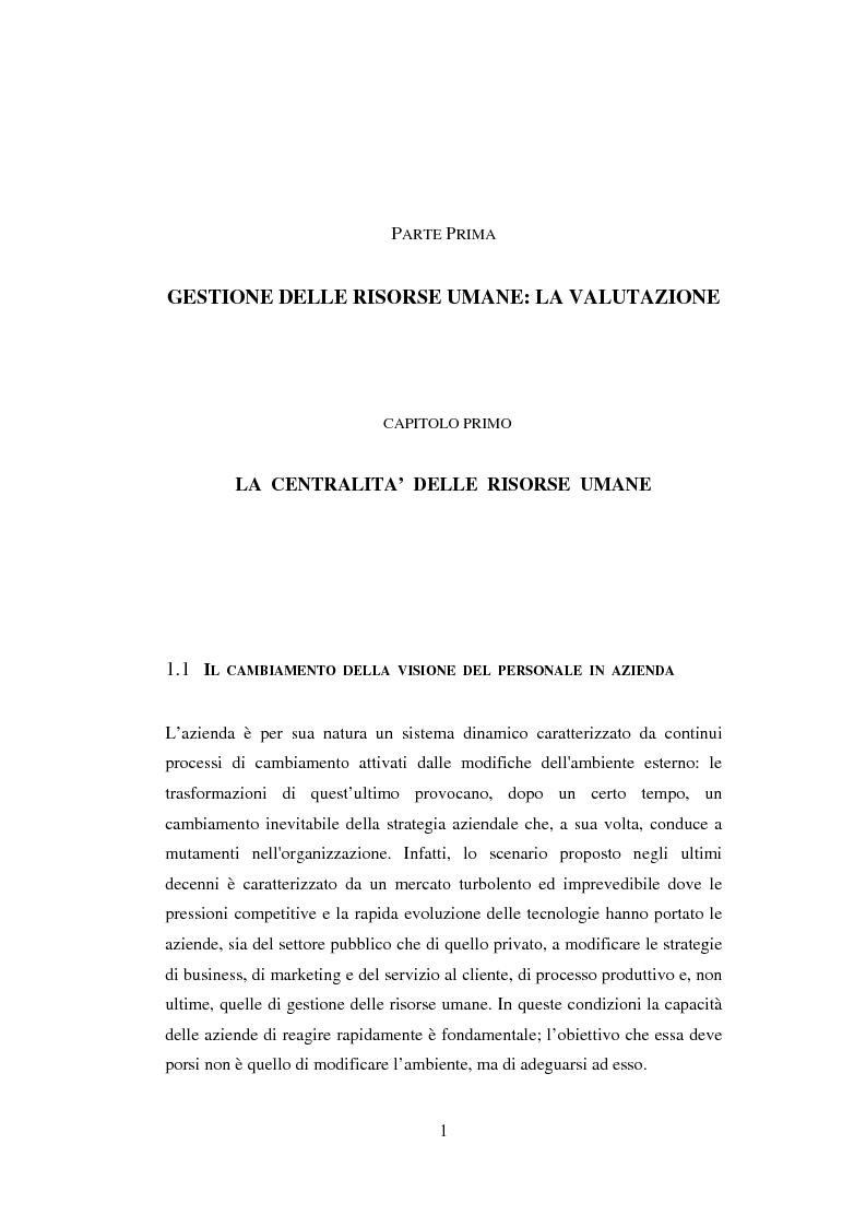 Anteprima della tesi: La valutazione del potenziale delle risorse umane, Pagina 4