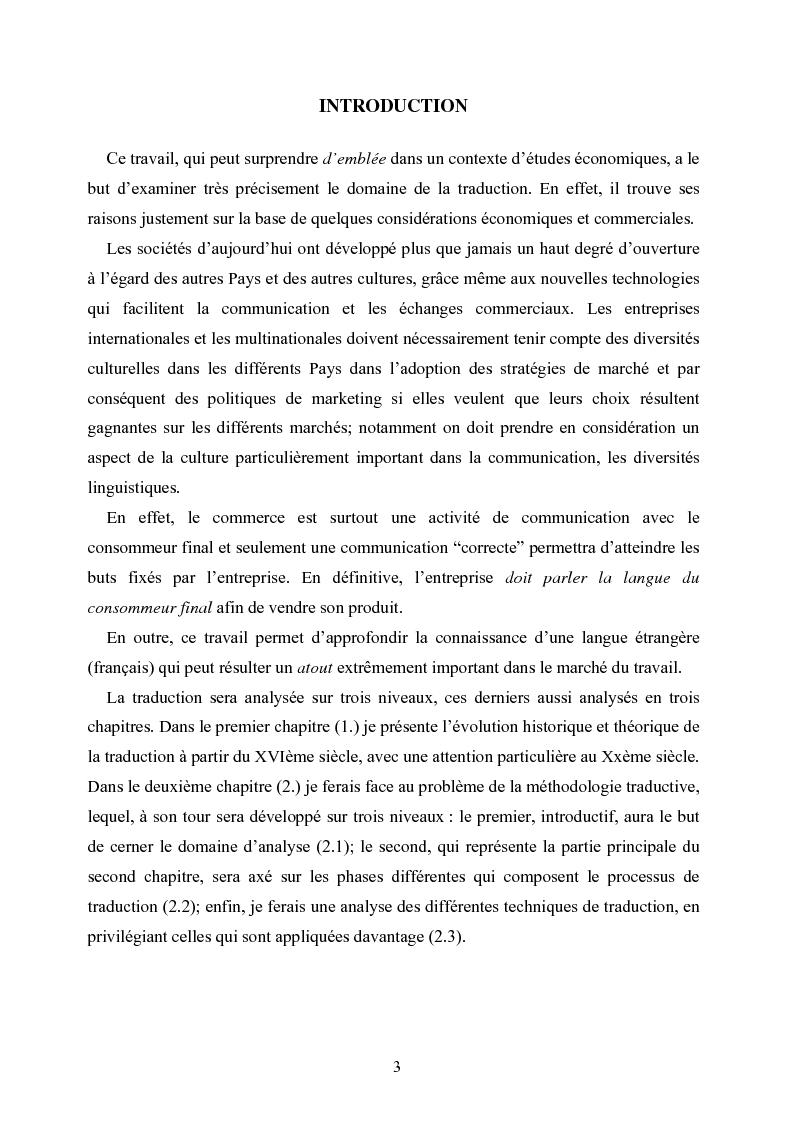 Anteprima della tesi: Théorie et pratique de la traduction. Histoire, évolution et différenciations spécialisées., Pagina 1