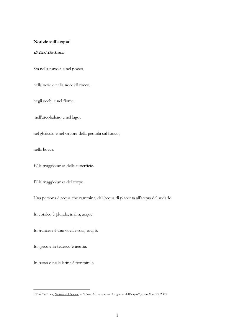 Anteprima della tesi: Acqua: per una ''Idropolitica'', Pagina 1