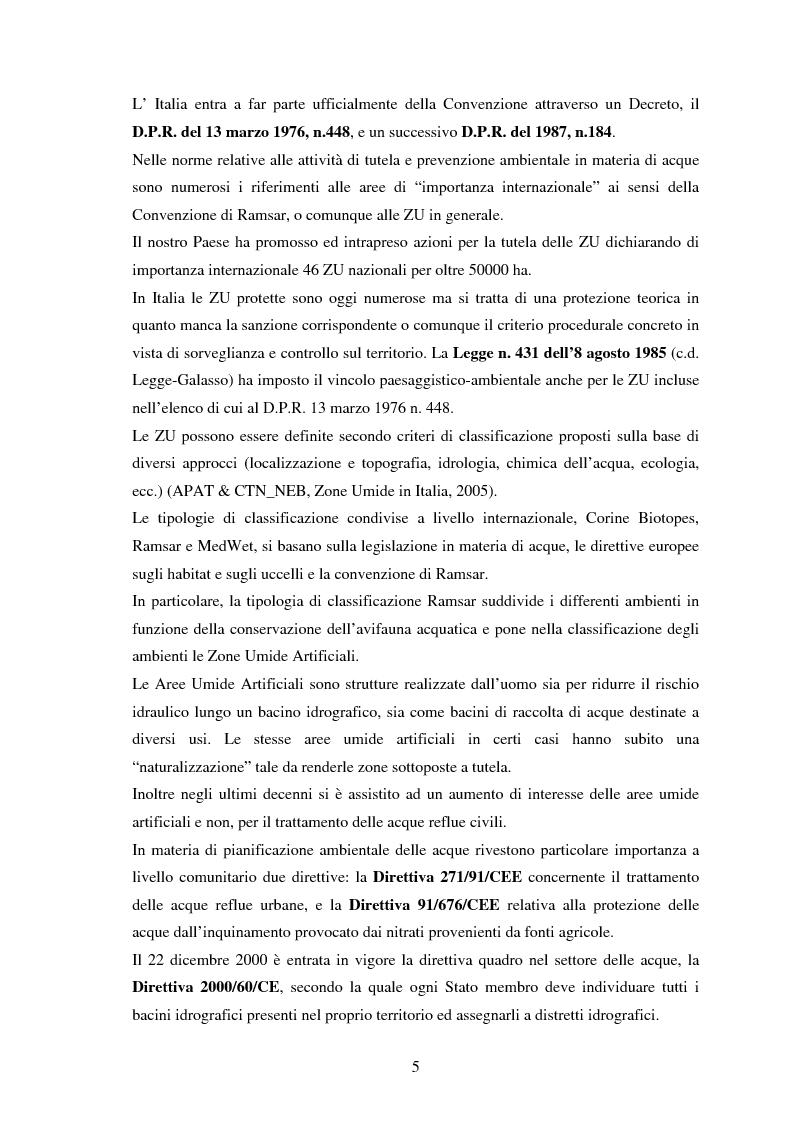 Anteprima della tesi: Zone umide artificiali per la depurazione di reflui civili; valutazione dell'efficienza depurativa dell'impianto di Dicomano, Pagina 4