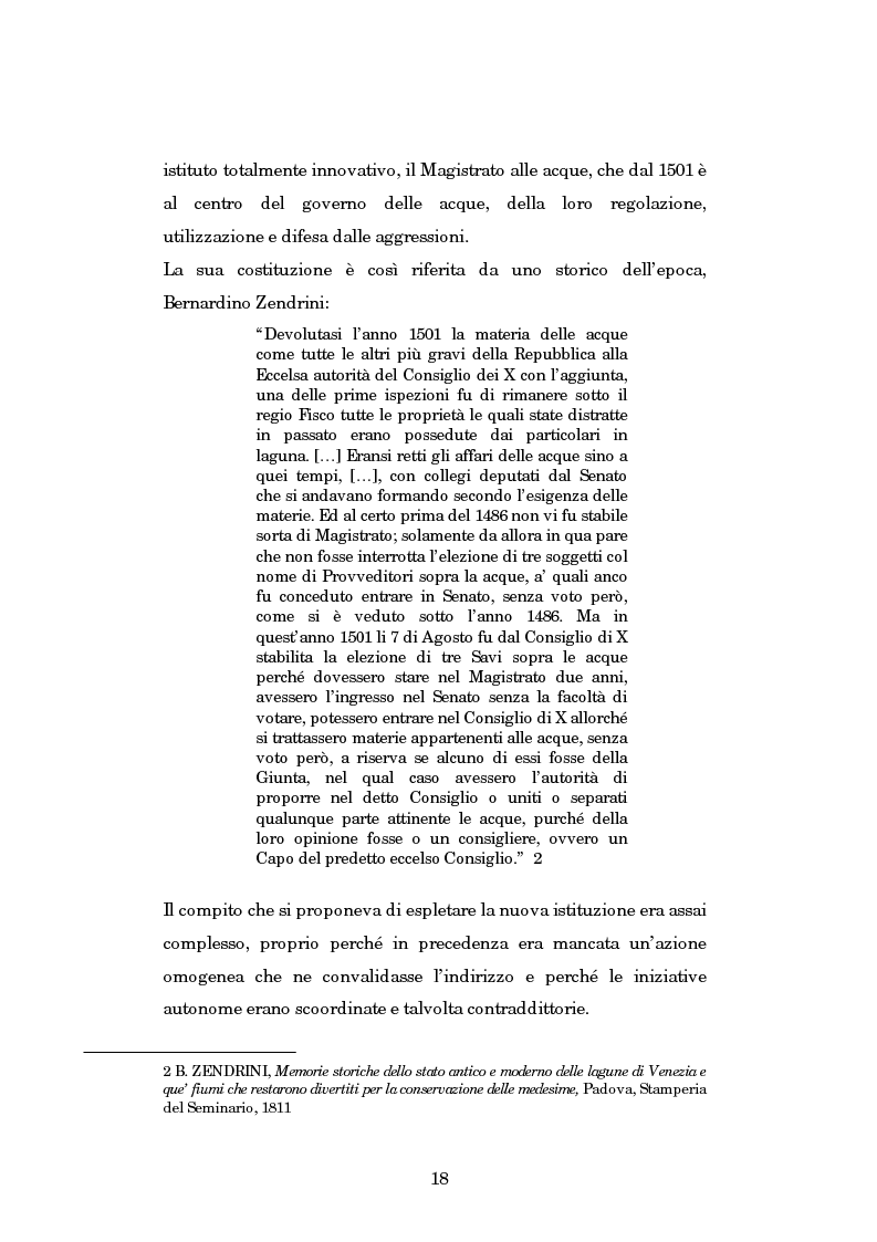 Anteprima della tesi: Il Magistrato alle Acque di Venezia, Pagina 11