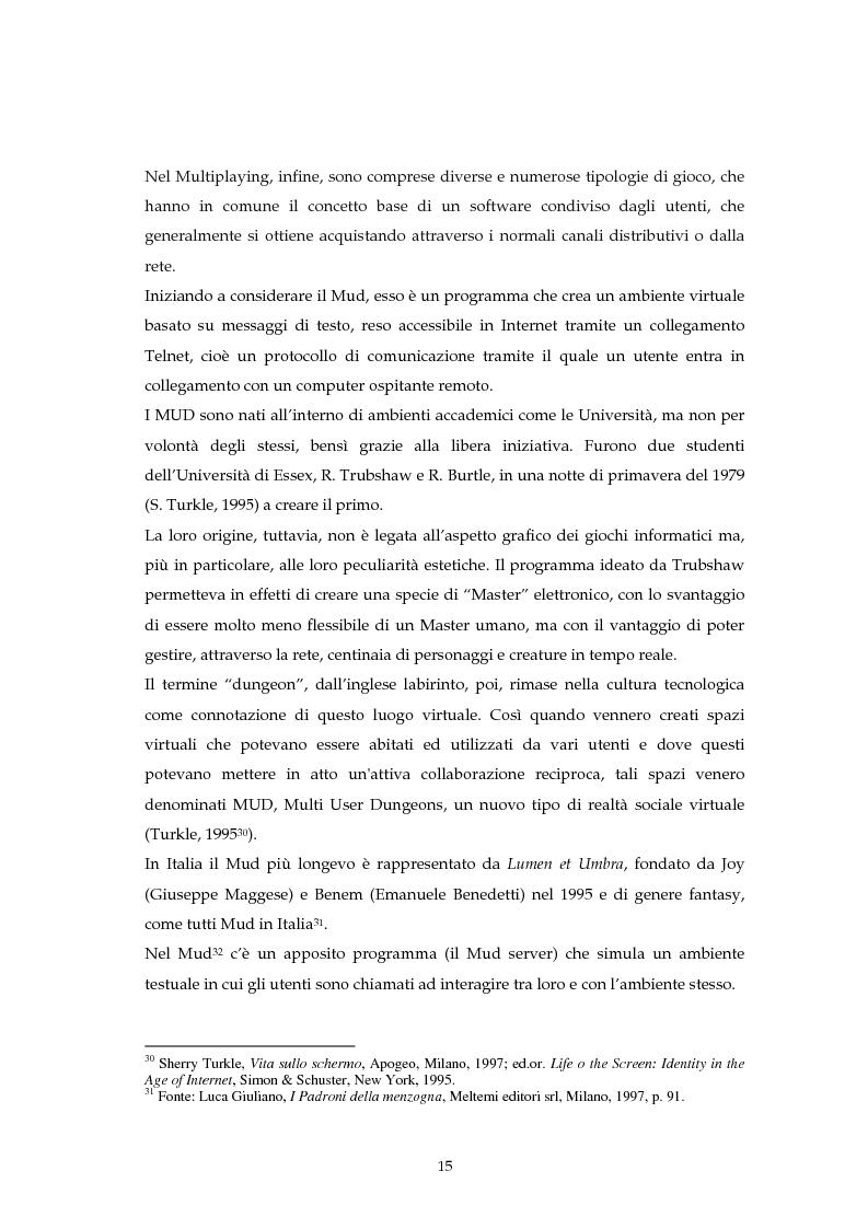 Anteprima della tesi: Hattrick: gioco di calcio virtuale ma soprattutto fenomeno di socializzazione, Pagina 15