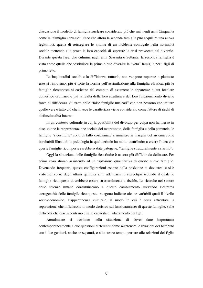 Anteprima della tesi: Le famiglie ricostituite: un'analisi attraverso il disegno in bambini di scuola elementare, Pagina 9