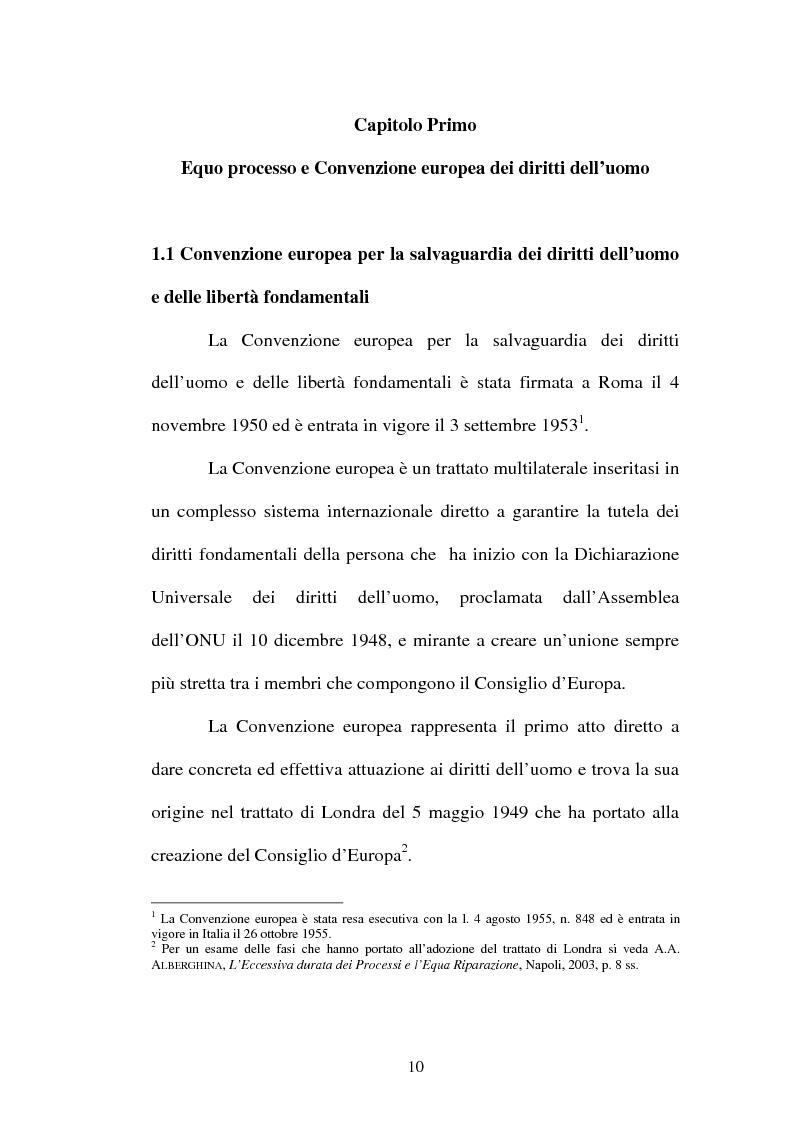 Anteprima della tesi: La durata ragionevole del processo, Pagina 10