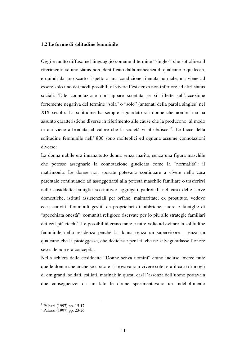 Anteprima della tesi: Corpi delle donne modelli sociali e patologie fra XIX e XX secolo, Pagina 7