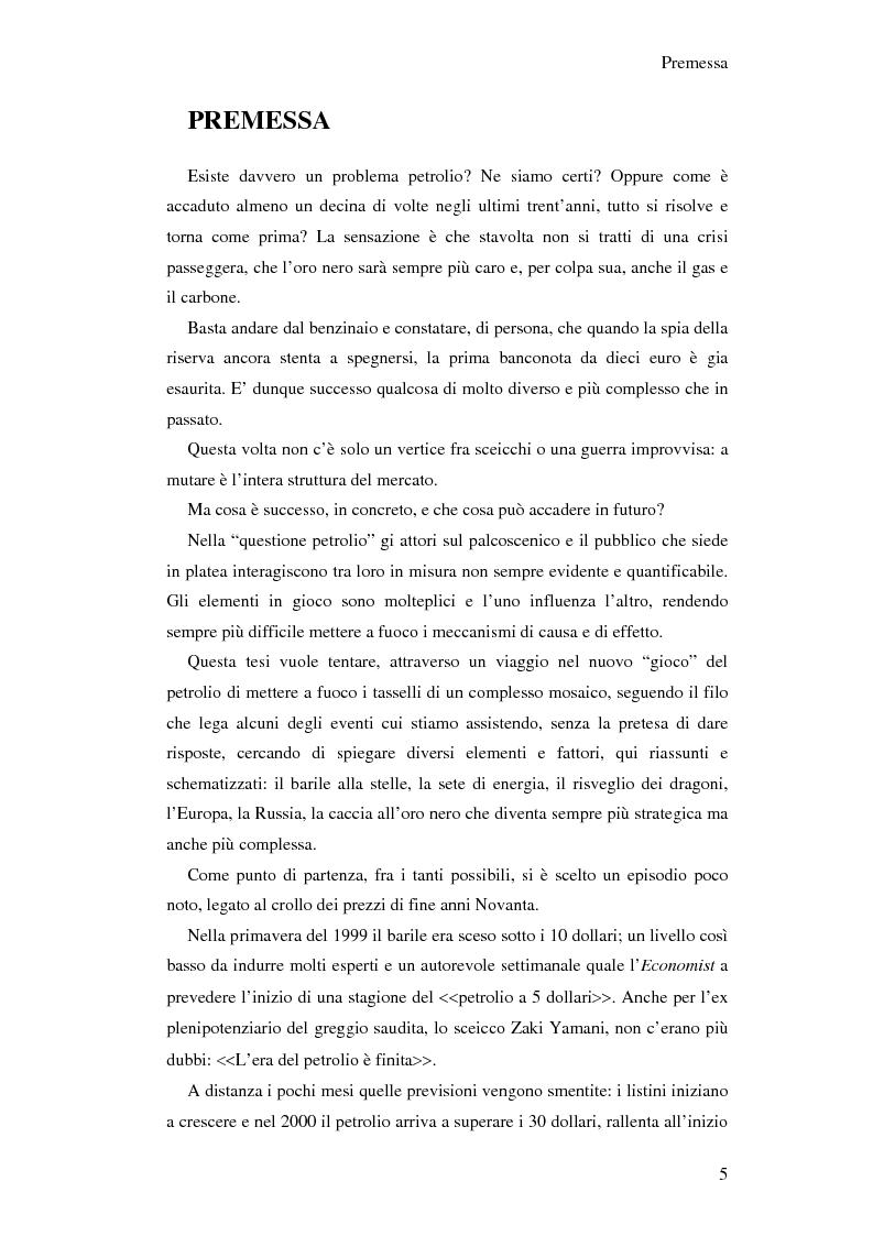 Anteprima della tesi: Gli effetti economici dell'incremento dei prezzi del petrolio, Pagina 1