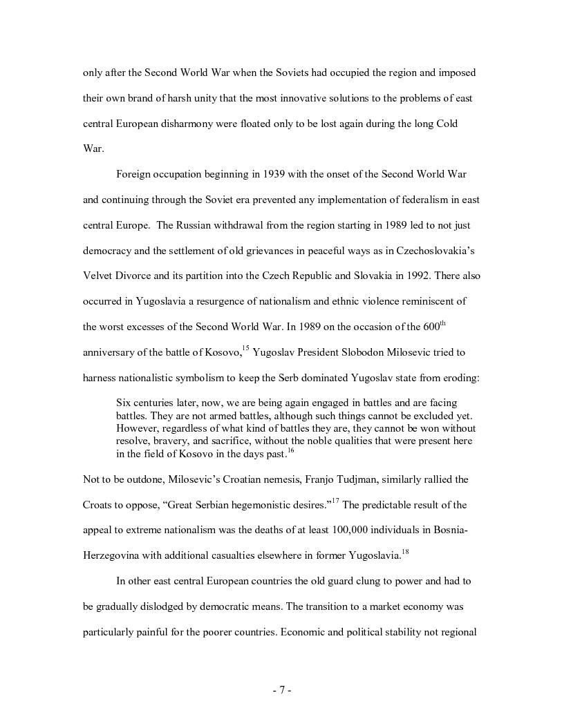 Anteprima della tesi: Madison, Wilson, and East Central European Federalism, Pagina 7