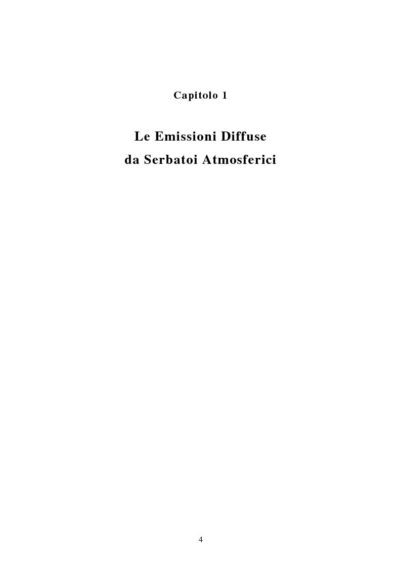 Anteprima della tesi: Emissioni da serbatoi atmosferici. Metodi di calcolo., Pagina 2