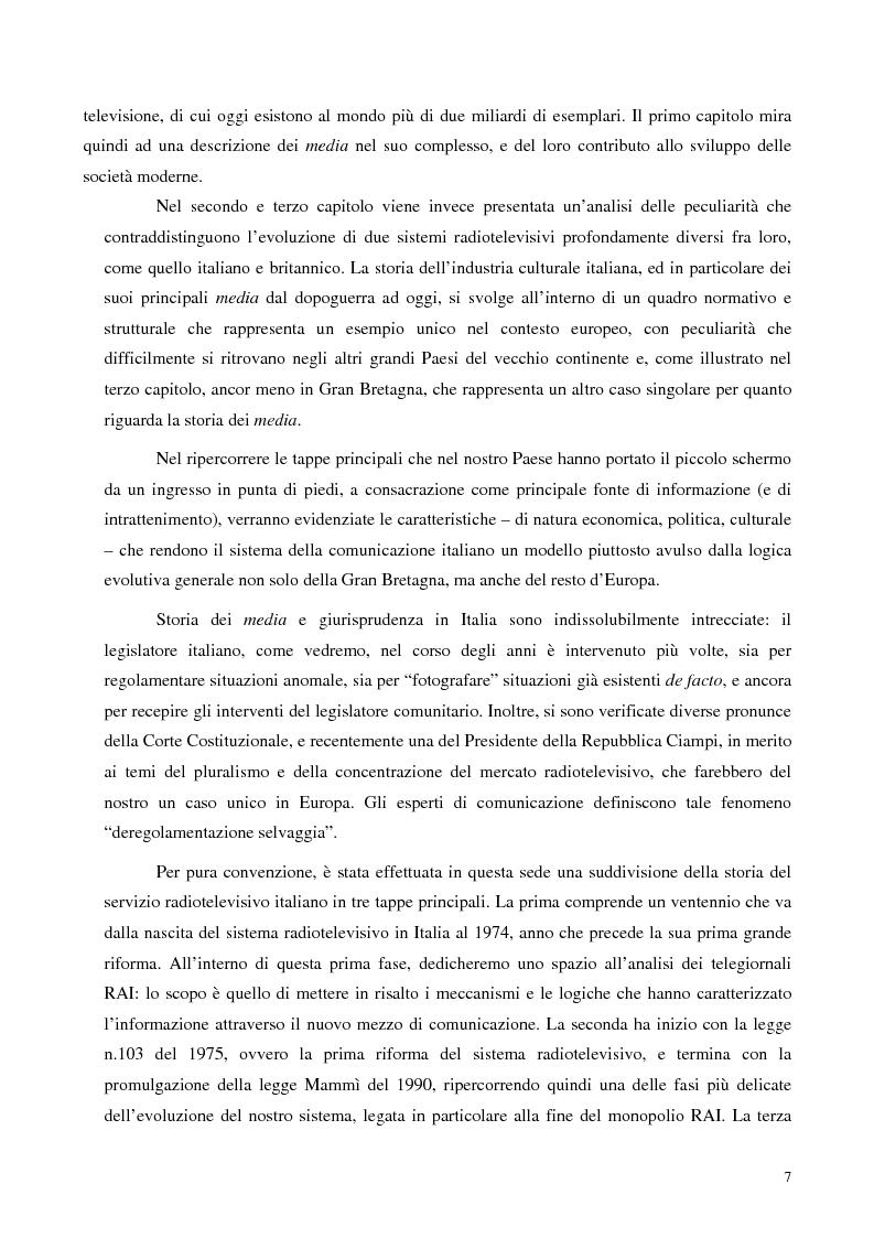 Anteprima della tesi: Informazione televisiva e politica: un approccio comparato tra i sistemi italiano e britannico., Pagina 2