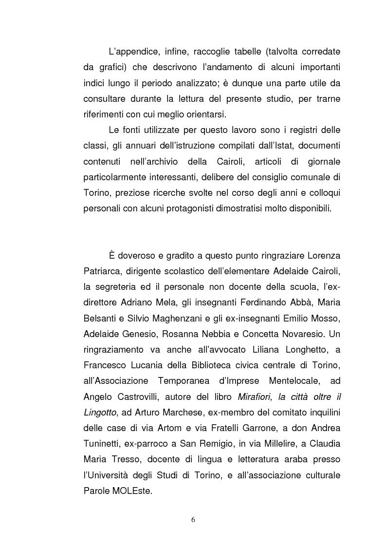 Anteprima della tesi: La scuola elementare Cairoli nel quartiere di via Artom dagli anni '60 agli anni '80, Pagina 6