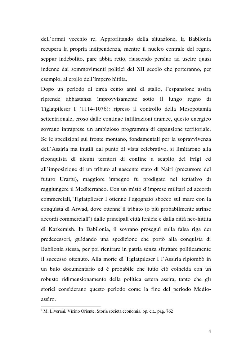 Anteprima della tesi: Il crollo dell'impero neo-assiro, Pagina 6