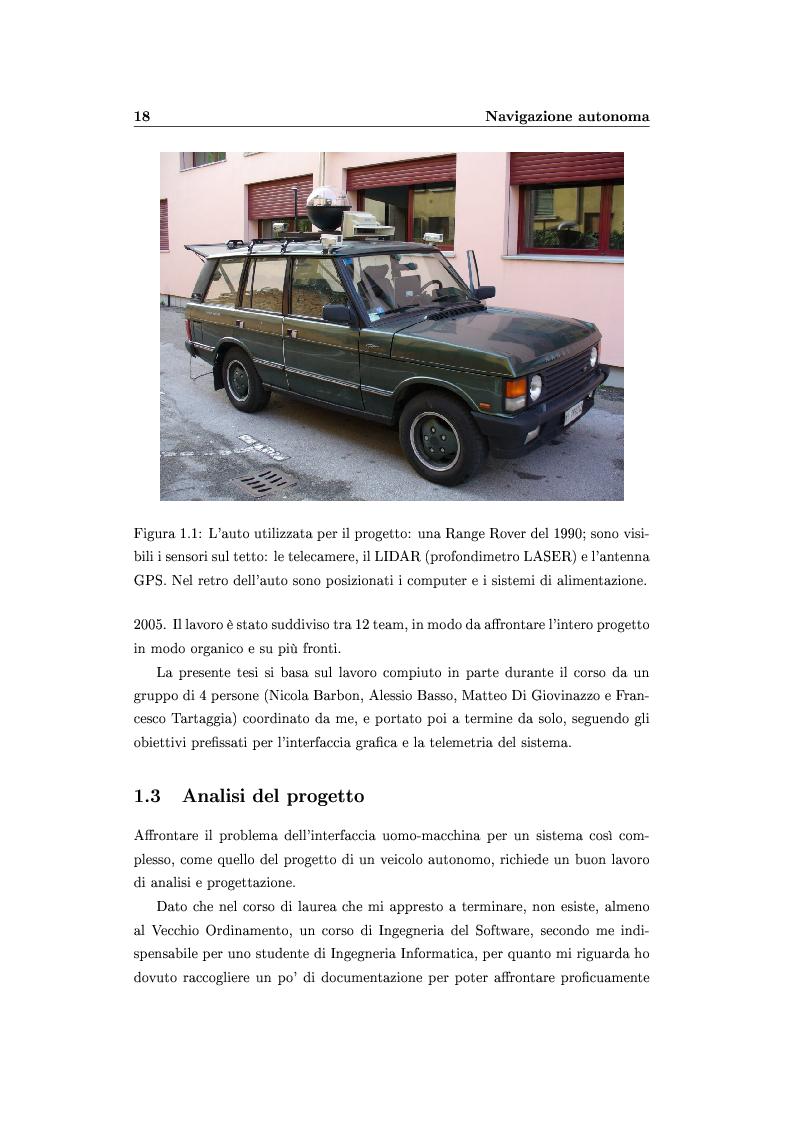 Anteprima della tesi: Interfaccia uomo-macchina per un veicolo autonomo, Pagina 3