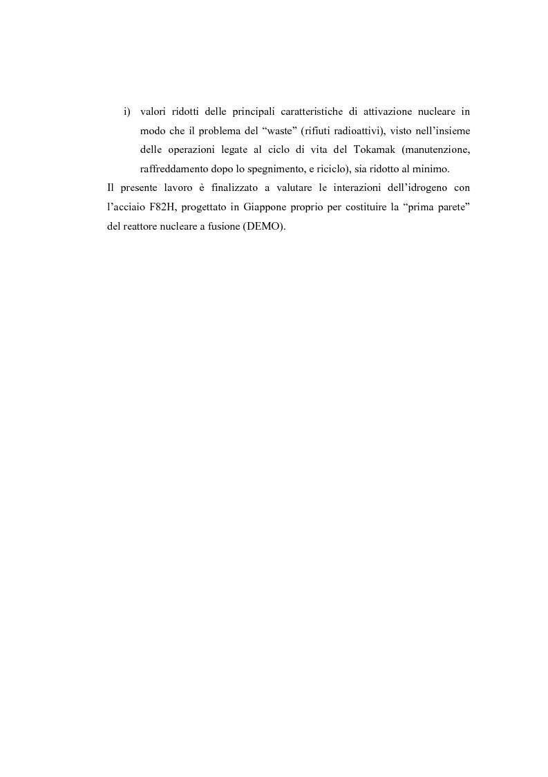 Anteprima della tesi: Studio della interazione acciaio-idrogeno nell'ambito di impianti energetici avanzati, Pagina 3