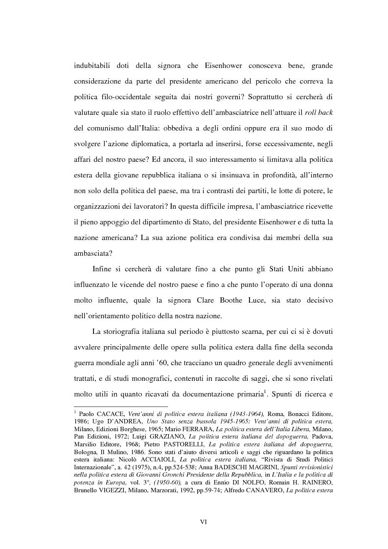 Anteprima della tesi: L'ambasciata di Clare Boothe Luce in Italia, 1953-1956, Pagina 2