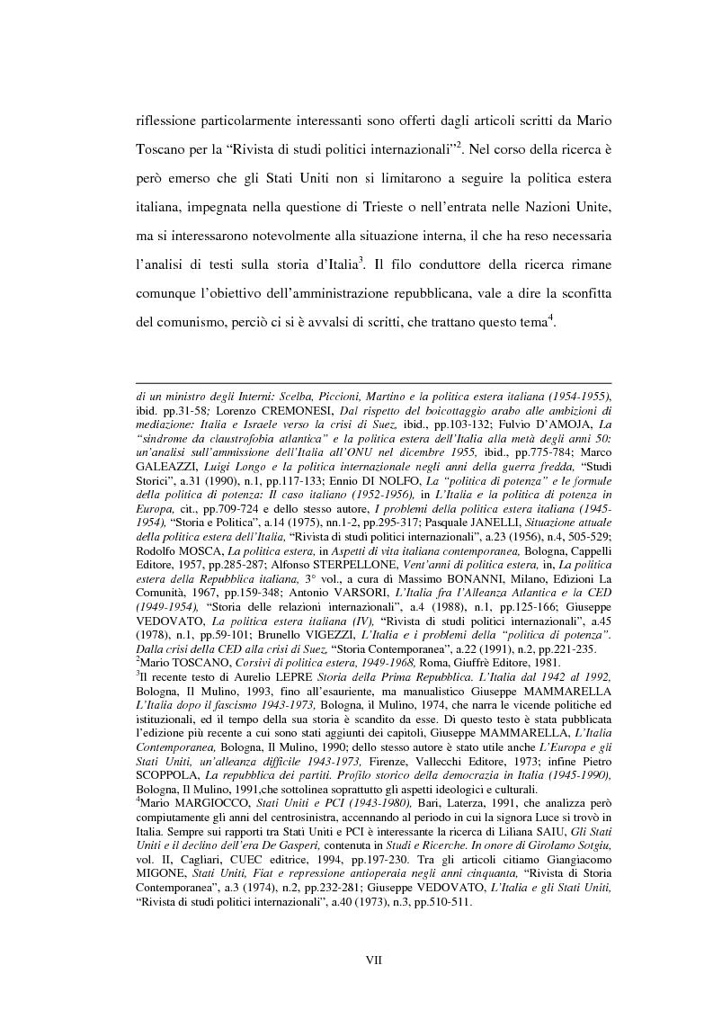 Anteprima della tesi: L'ambasciata di Clare Boothe Luce in Italia, 1953-1956, Pagina 3