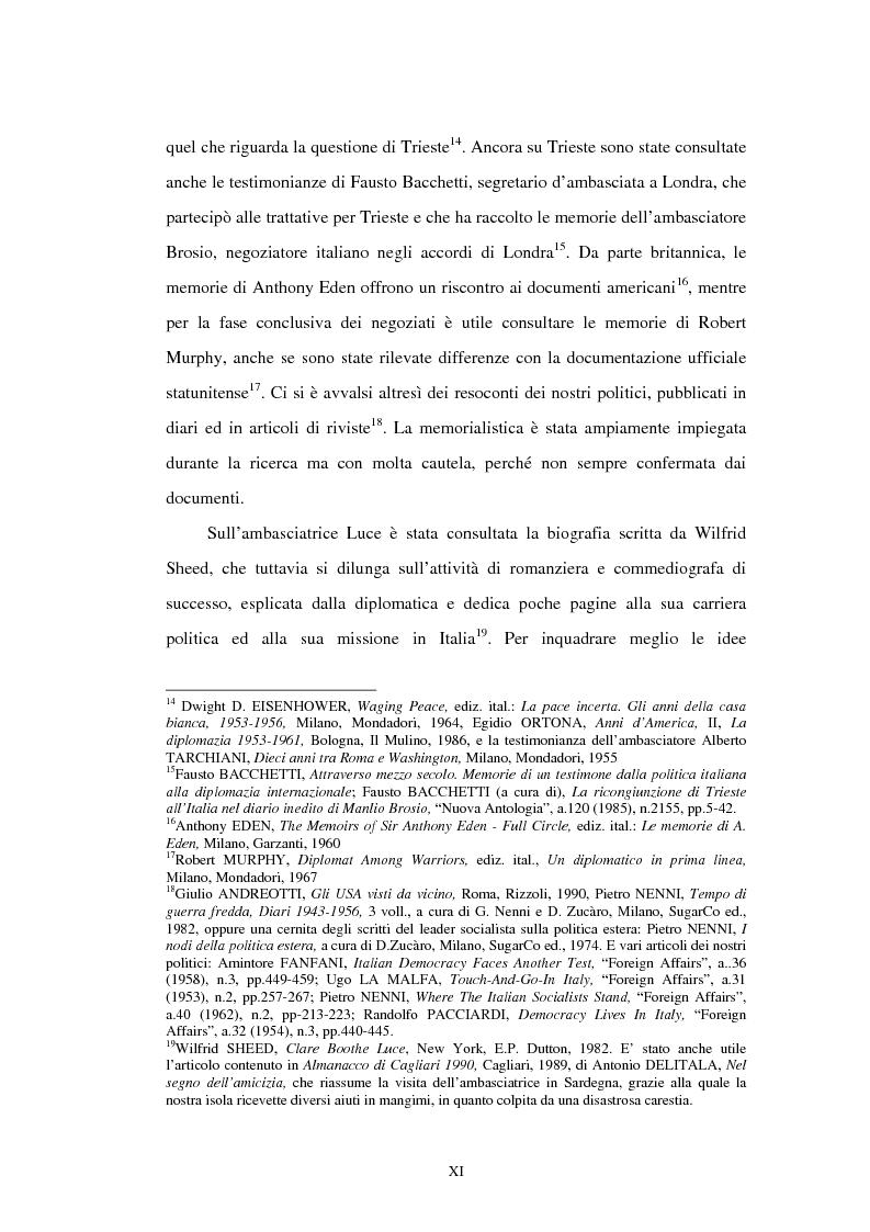 Anteprima della tesi: L'ambasciata di Clare Boothe Luce in Italia, 1953-1956, Pagina 7