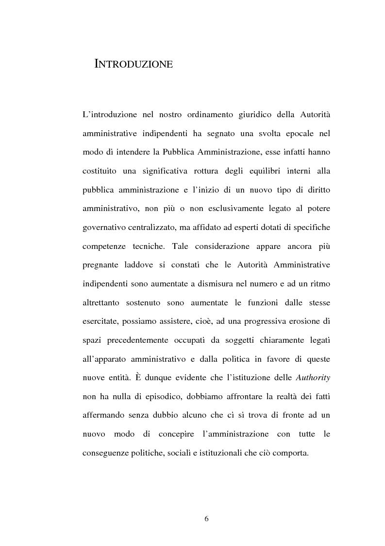 Anteprima della tesi: Amministrazioni Indipendenti e Giudice Amministrativo, Pagina 1