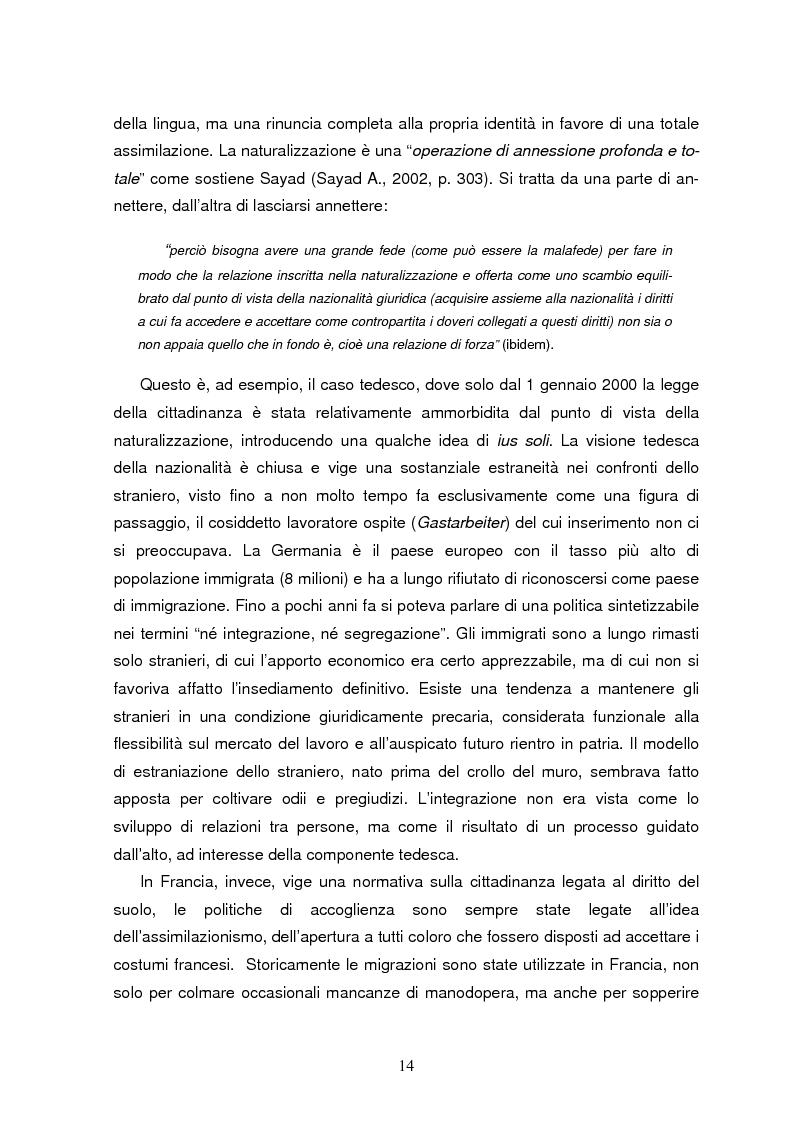 Anteprima della tesi: I diritti politici dei residenti stranieri in Europa. Il caso di Roma., Pagina 9