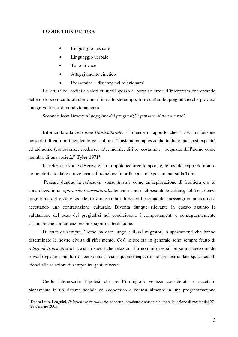 Anteprima della tesi: La cooperazione per i Paesi in Via di Sviluppo verso gli immigrati nelle nostre realtà che cambiano il loro volto, Pagina 3