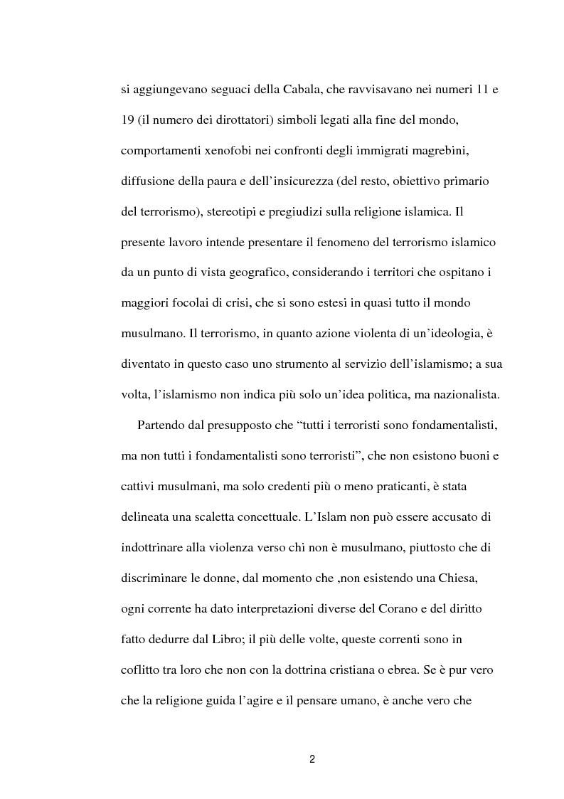 Anteprima della tesi: I diversi volti del terrorismo islamico, Pagina 2