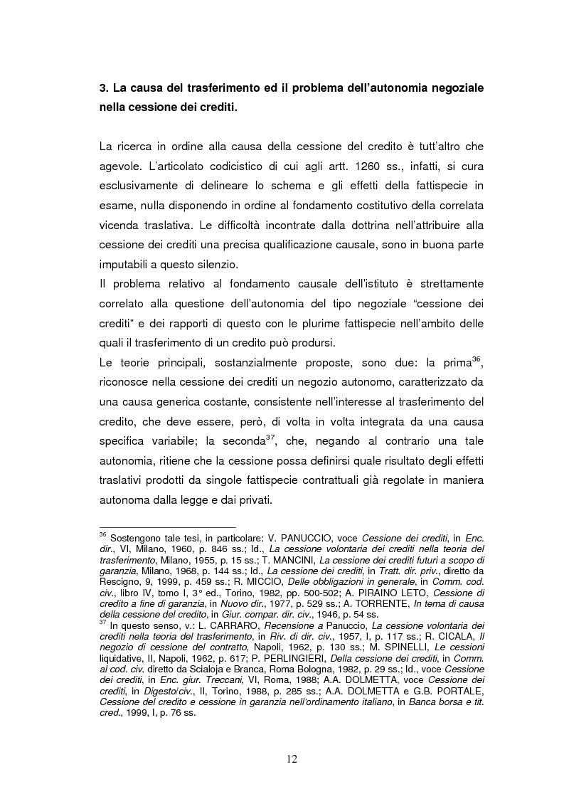 Anteprima della tesi: La cessione del credito a scopo di garanzia, Pagina 12
