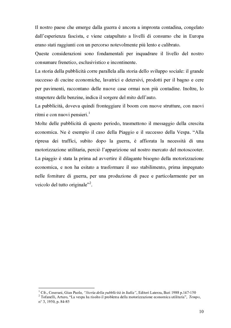 Anteprima della tesi: L'attualizzazione dell'immagine e dei ruoli della donna in pubblicità: da Carosello ai giorni nostri, Pagina 6