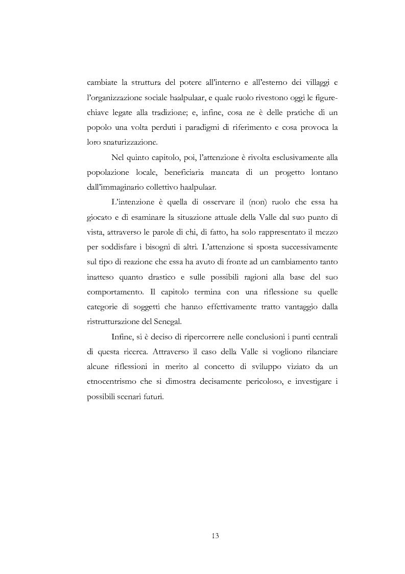 Anteprima della tesi: Approccio antropologico ad un progetto di sviluppo in Africa: la ''Valorizzazione della Valle del fiume Senegal'', Pagina 7