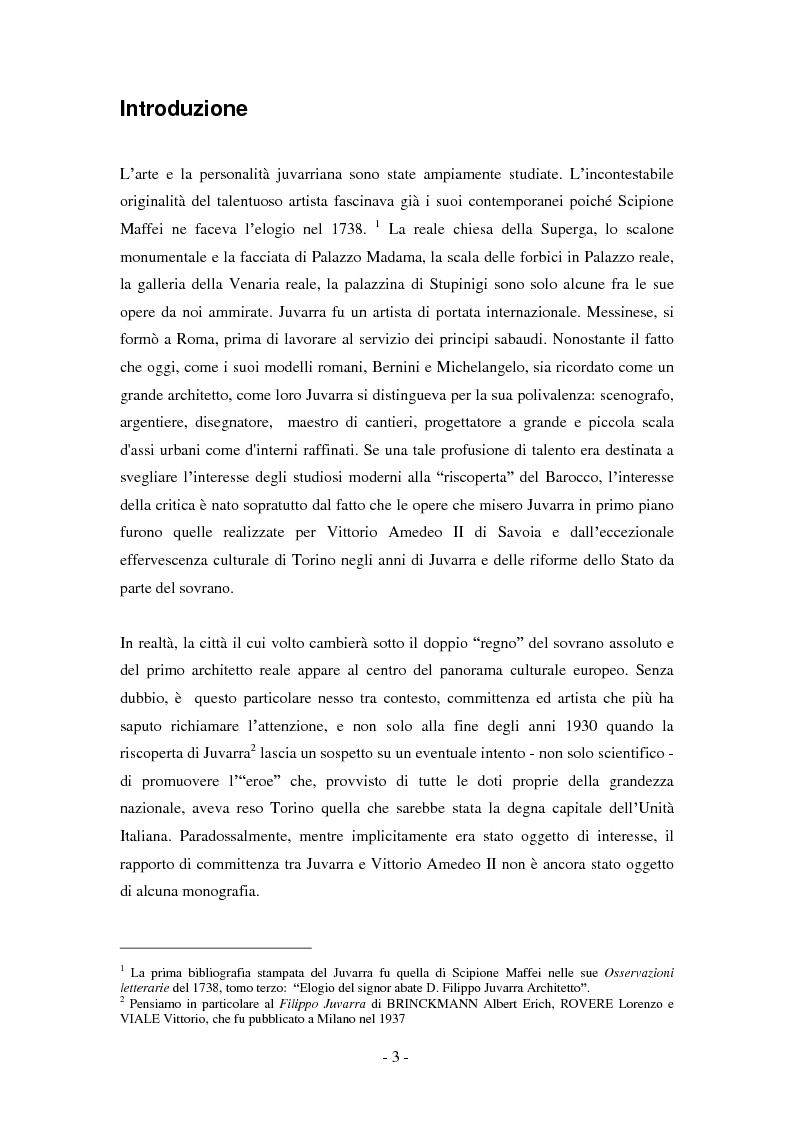 Anteprima della tesi: Filippo Juvarra e Vittorio Amedeo II: un modello di committenza, Pagina 1