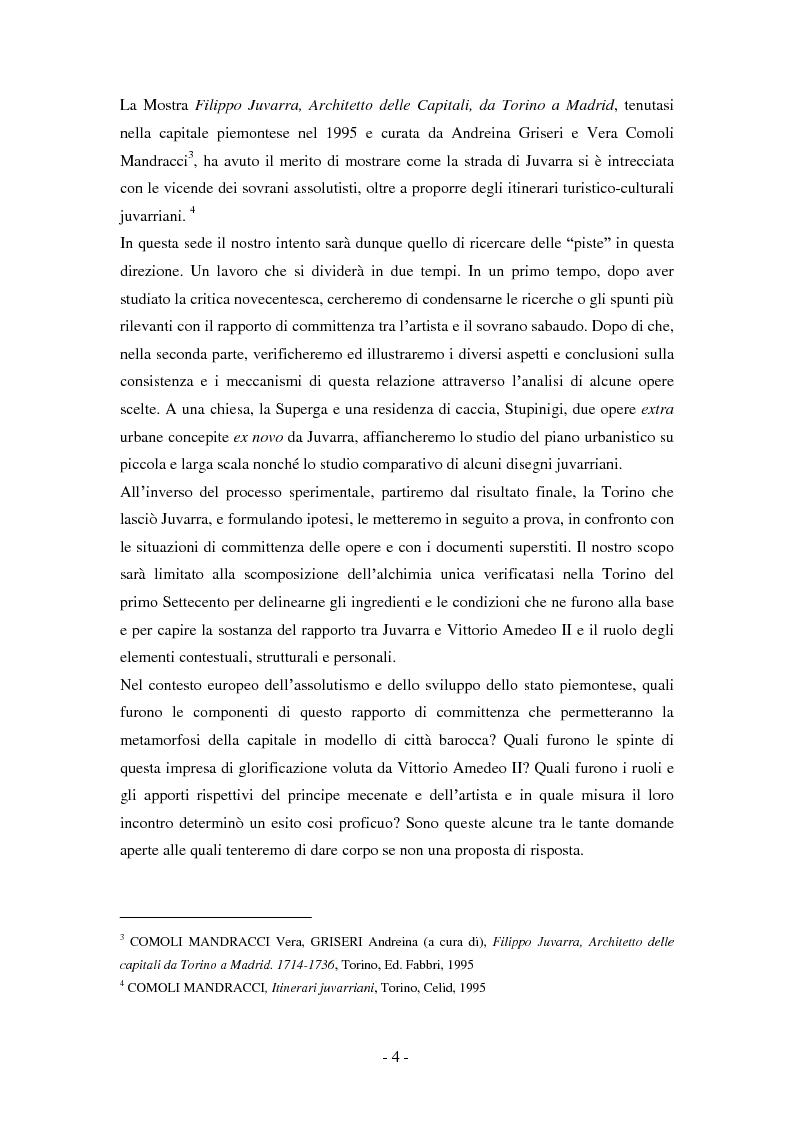 Anteprima della tesi: Filippo Juvarra e Vittorio Amedeo II: un modello di committenza, Pagina 2