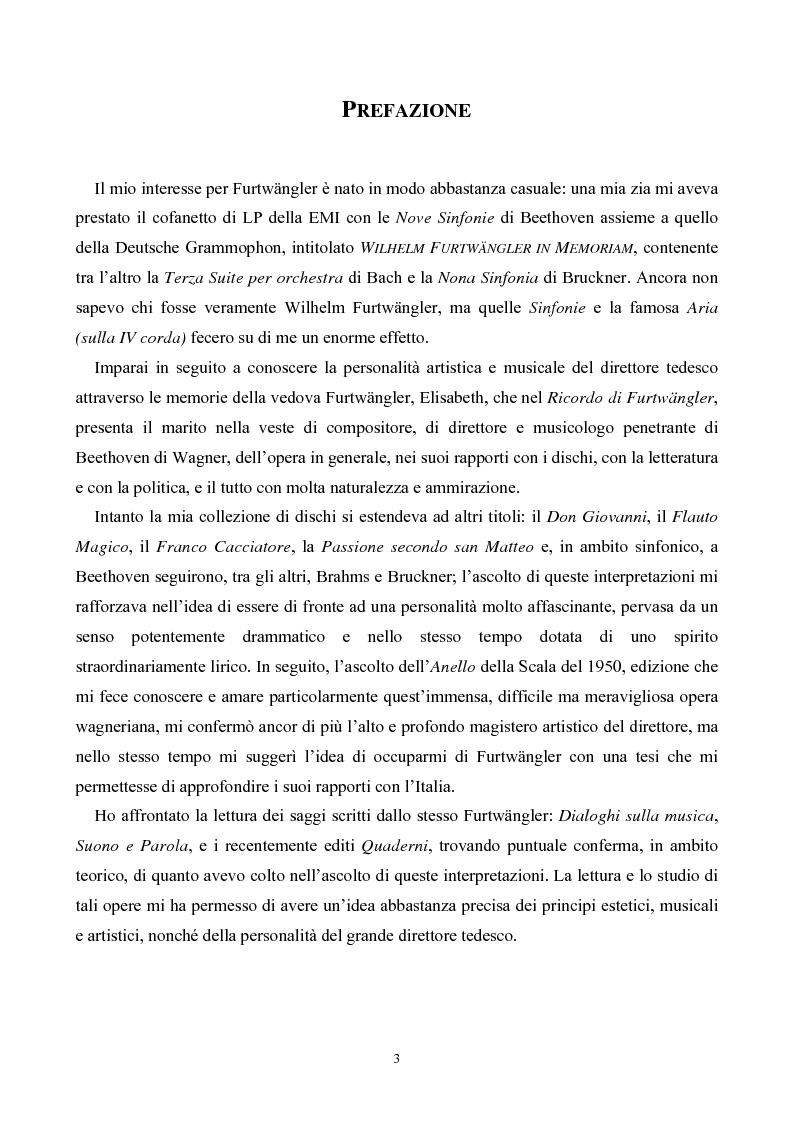 Anteprima della tesi: Wilhelm Furtwangler in Italia, Pagina 1