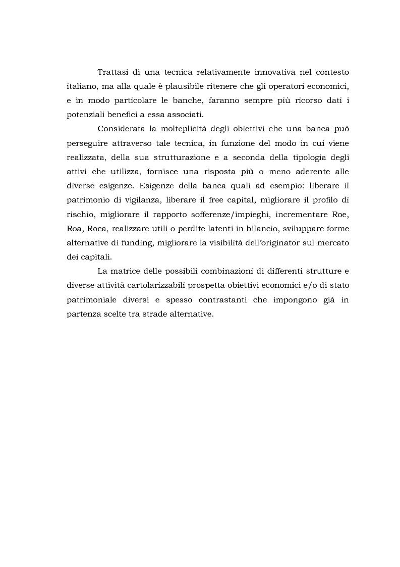 Anteprima della tesi: Le operazioni di cartolarizzazione secondo Basilea II, Pagina 2
