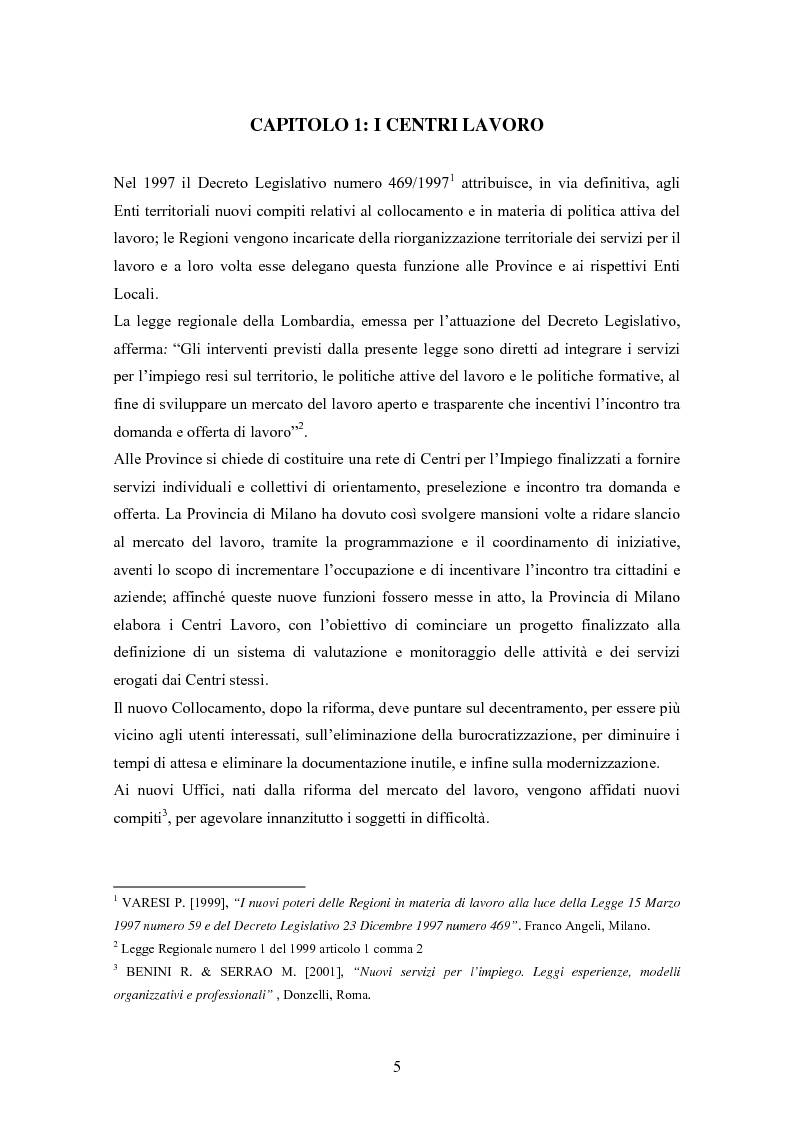 Anteprima della tesi: Tecnologie web a supporto dei servizi dello Sportello Unico del Lavoro nel Sud-Ovest milanese: il caso dei Centri Lavoro, Pagina 3