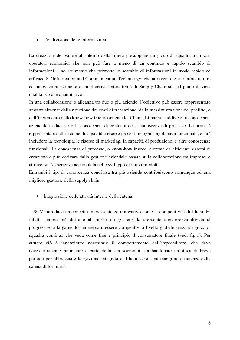 Anteprima della tesi: L'Impatto dell'Information and Communication Technology nella Gestione della Catena di Fornitura, dall'Outsourcing al Magazzino Virtuale, Pagina 4